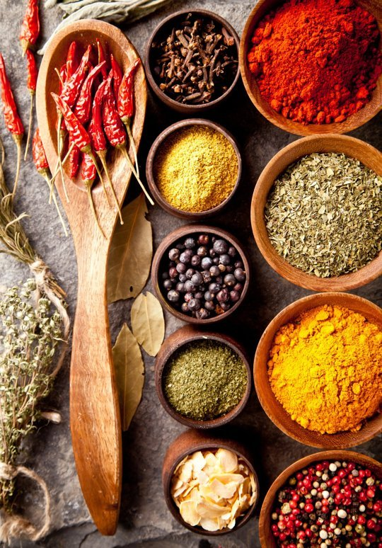 Spices used in Indian cooking have multiple health benefits Image source: http://www.thekitchn.com/quick-guide-to-every-herb-and-spice-in-the-cupboard-108770