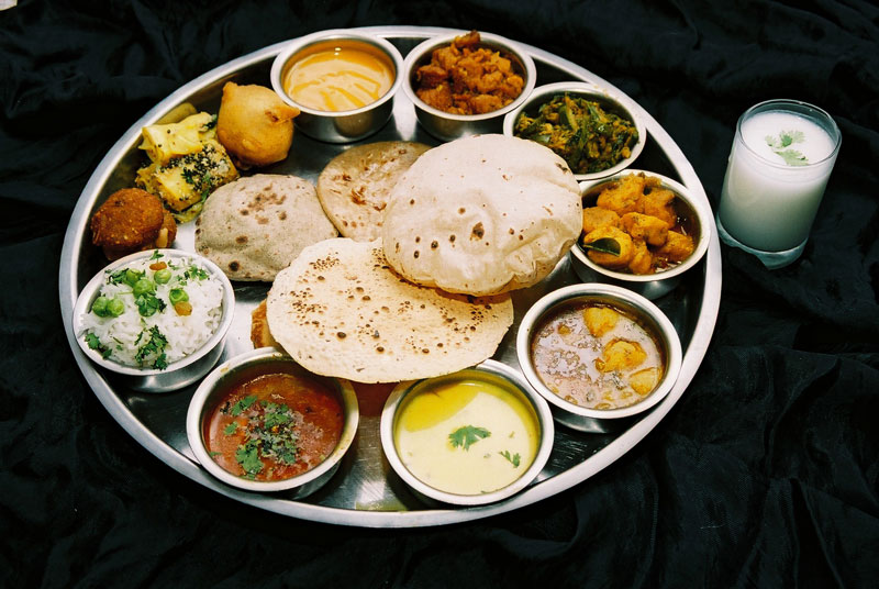 An Indian thali is a well balanced platter, both in terms of utrition and taste. Image source: Google Images